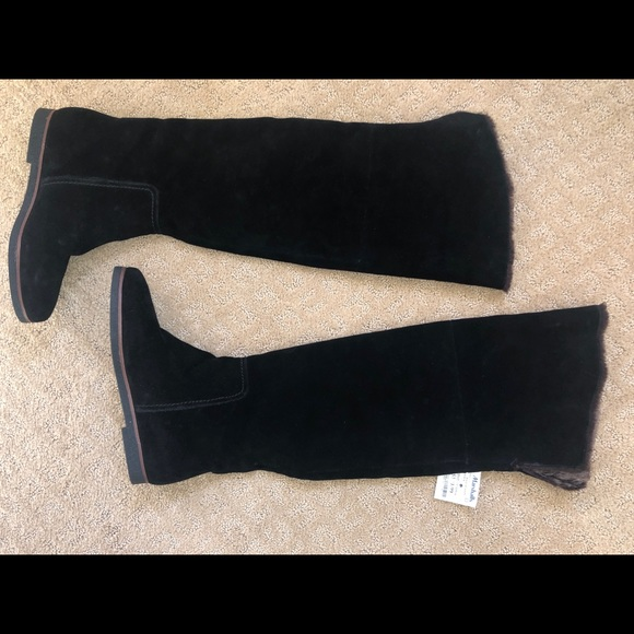 Sam Edelman Over The Knee Suede Faux Fur Boot